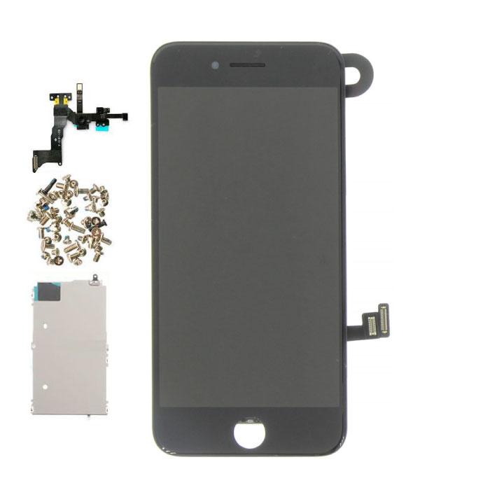 iPhone 8 Plus Vormontierter Bildschirm (Touchscreen + LCD + Teile) AA + Qualität - Schwarz