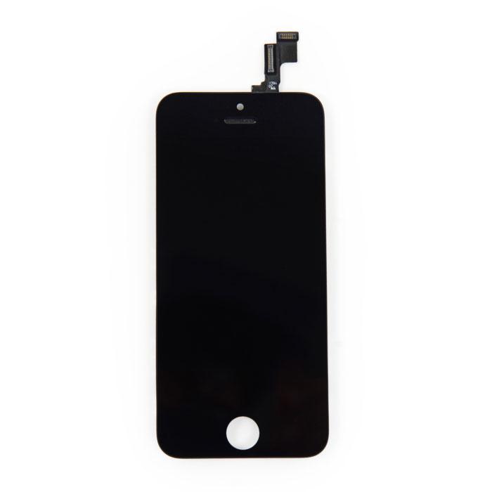 Écran iPhone SE / 5S (écran tactile + LCD + pièces) AA + Qualité - Noir