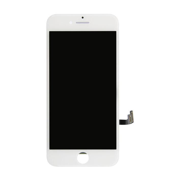 iPhone 7 Bildschirm (Touchscreen + LCD + Teile) AA + Qualität - Weiß