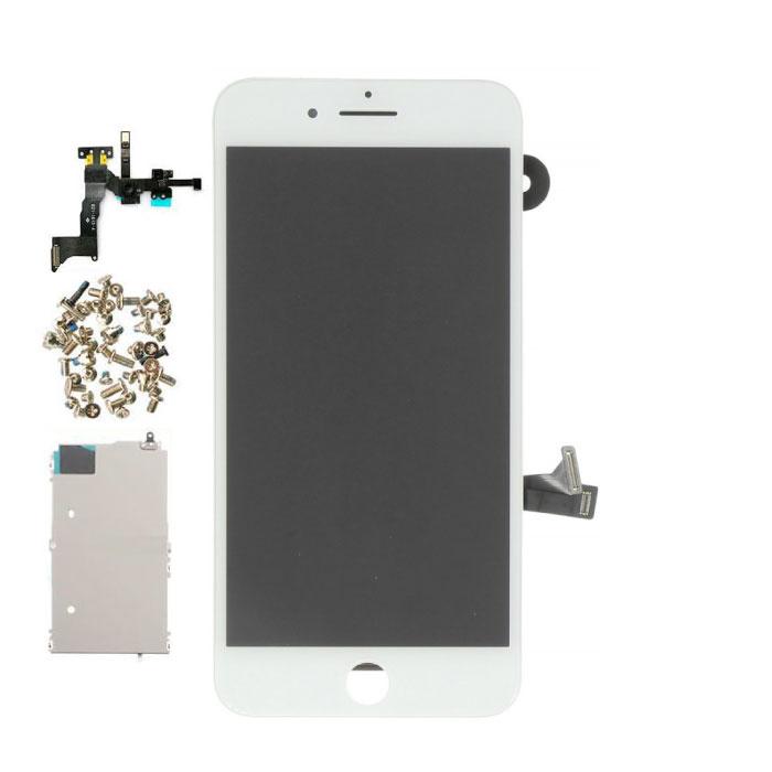 iPhone 8 Plus Vormontierter Bildschirm (Touchscreen + LCD + Teile) AA + Qualität - Weiß