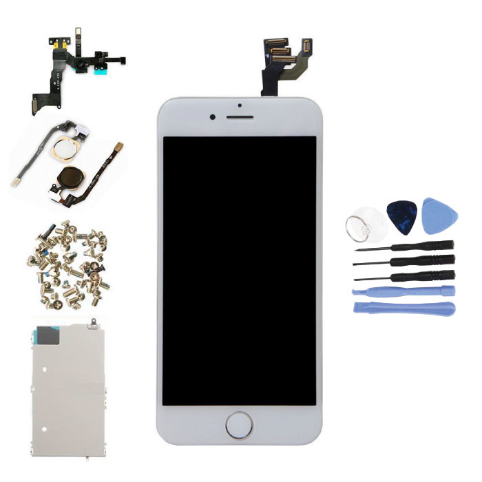 "iPhone 6 4.7 ""Front Mounted Display (LCD + Touch Screen + Parts) AAA + Quality - White + Tools"