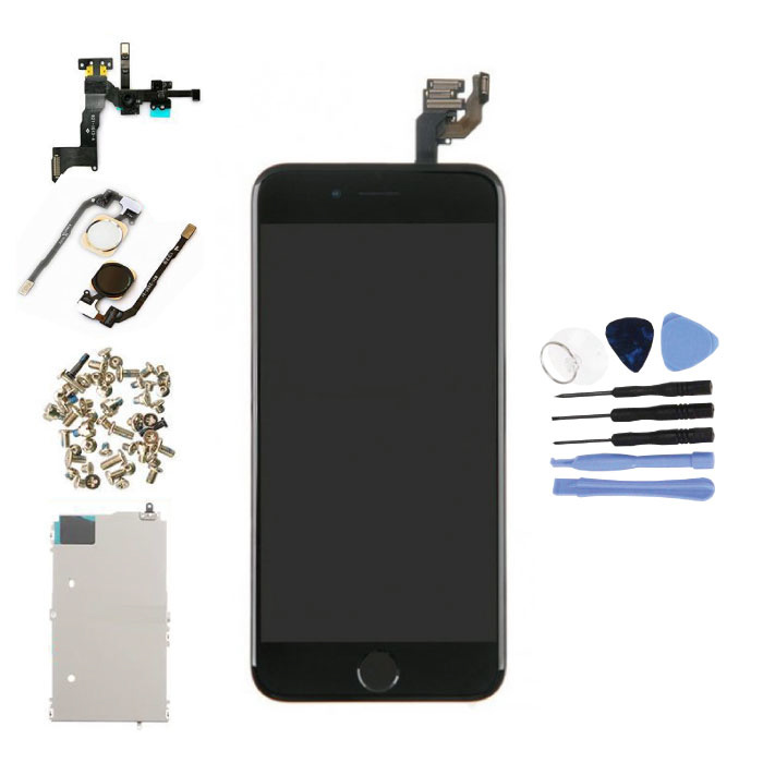 """iPhone 6 4.7"""" Voorgemonteerd Scherm (Touchscreen + LCD + Onderdelen) AAA+ Kwaliteit - Zwart + Gereedschap"""