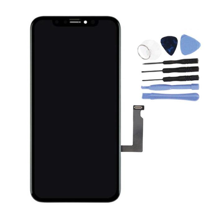 iPhone XR-Bildschirm (Touchscreen + LCD + Teile) A + Qualität - Schwarz + Werkzeuge