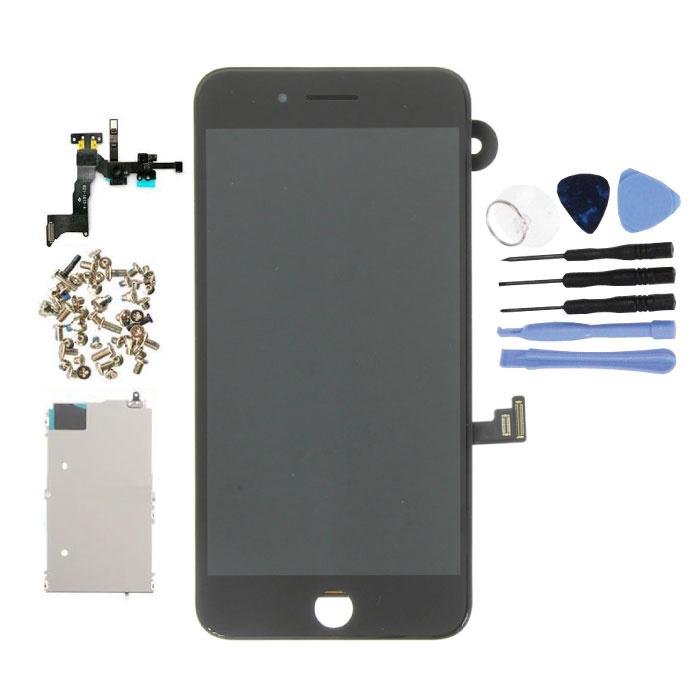 iPhone 8 Plus Vormontierter Bildschirm (Touchscreen + LCD + Teile) AA + Qualität - Schwarz + Werkzeuge