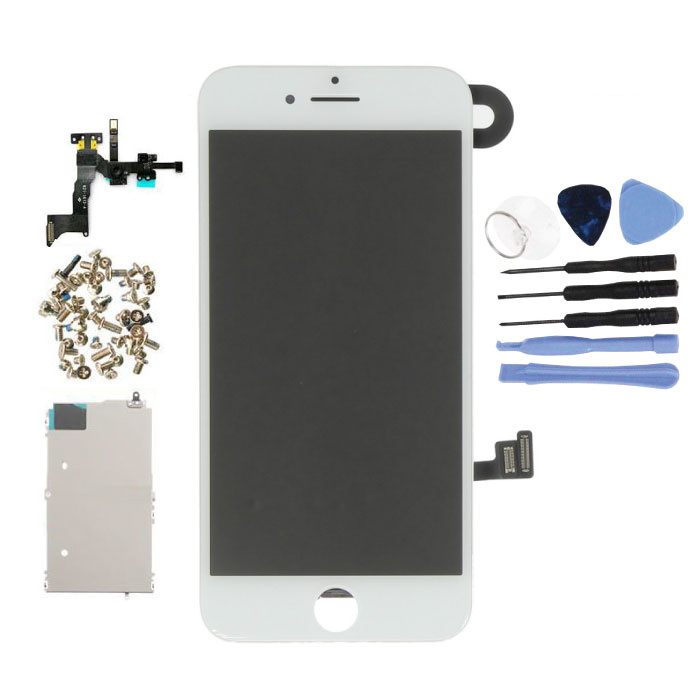 iPhone 8 Pre-assembled Screen (Touchscreen + LCD + Parts) A + Quality - White + Tools