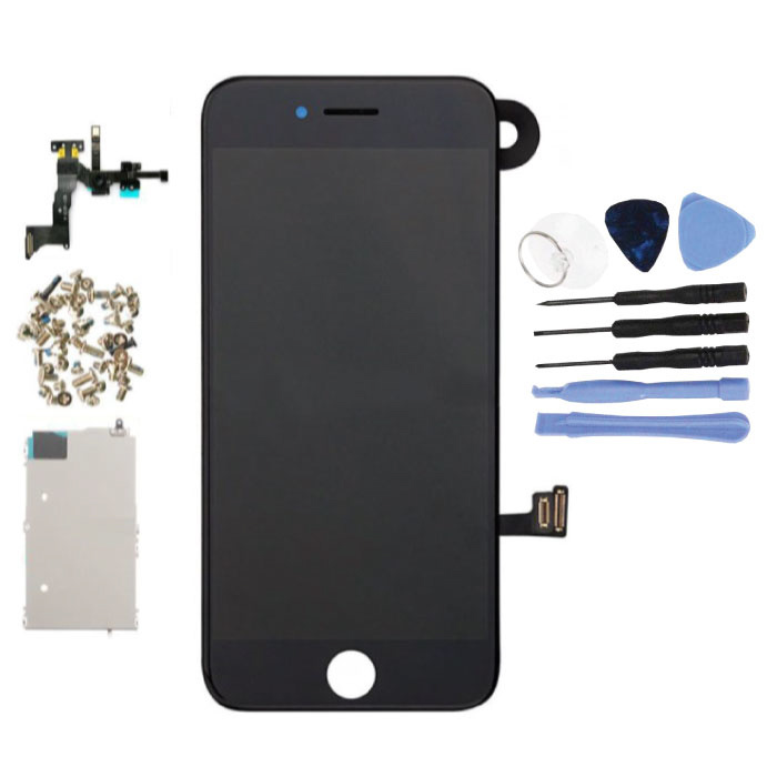 Écran pré-assemblé pour iPhone 7 Plus (écran tactile + LCD + pièces) AA + Qualité - Noir + Outils