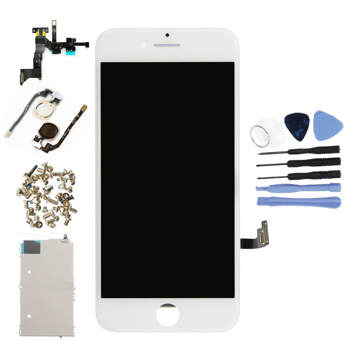 iPhone 7 Pre-assembled Screen (Touchscreen + LCD + Parts) AA + Quality - White + Tools