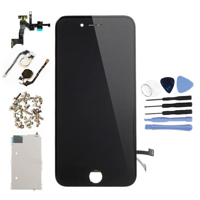 Vormontierter iPhone 7-Bildschirm (Touchscreen + LCD + Teile) AA + Qualität - Schwarz + Werkzeuge