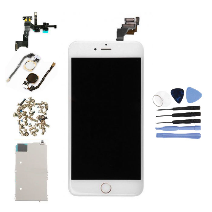 iPhone 6S Plus Vormontierter Bildschirm (Touchscreen + LCD + Teile) AA + Qualität - Weiß + Werkzeuge