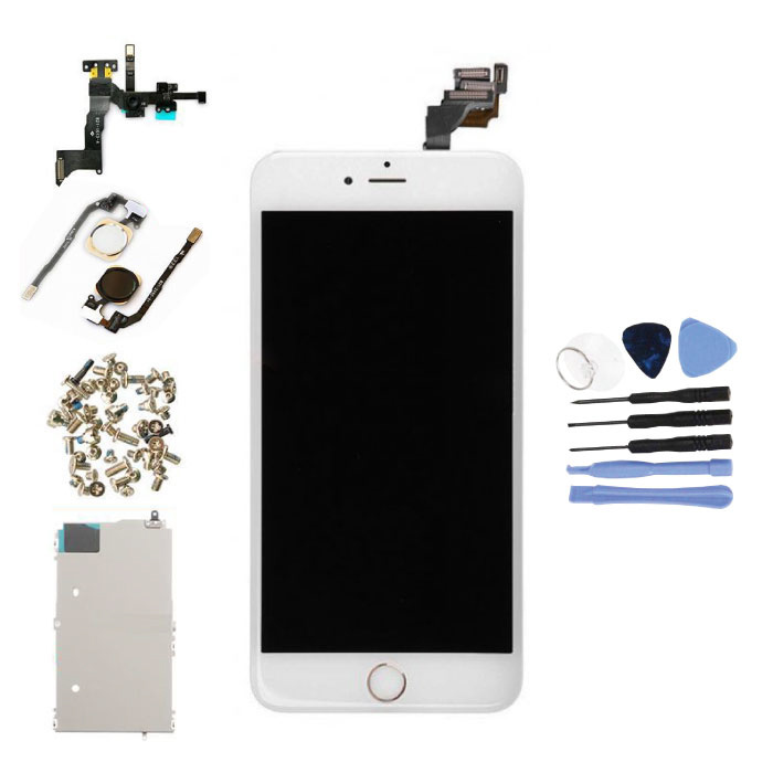iPhone 6 Plus Pre-assembled Screen (Touchscreen + LCD + Parts) AA + Quality - White + Tools