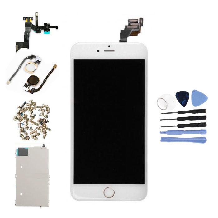 iPhone 6 Plus Voorgemonteerd Scherm (Touchscreen + LCD + Onderdelen) AA+ Kwaliteit - Wit + Gereedschap