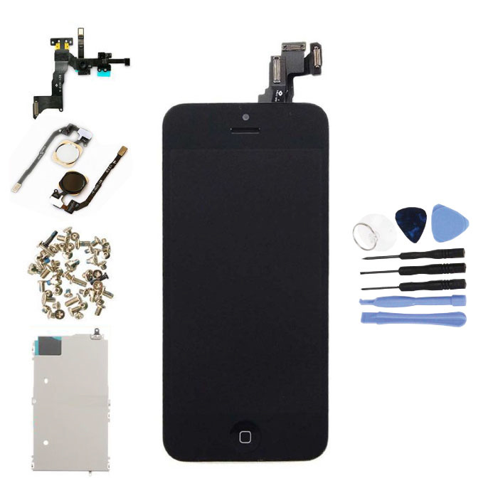 iPhone 5C Pre-assembled Screen (Touchscreen + LCD + Parts) AA + Quality - Black + Tools