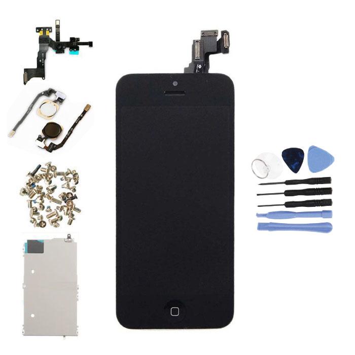 iPhone 5C Voorgemonteerd Scherm (Touchscreen + LCD + Onderdelen) AA+ Kwaliteit - Zwart + Gereedschap