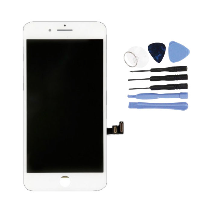 iPhone 8 Screen (Touchscreen + LCD + Parts) AA + Quality - White + Tools