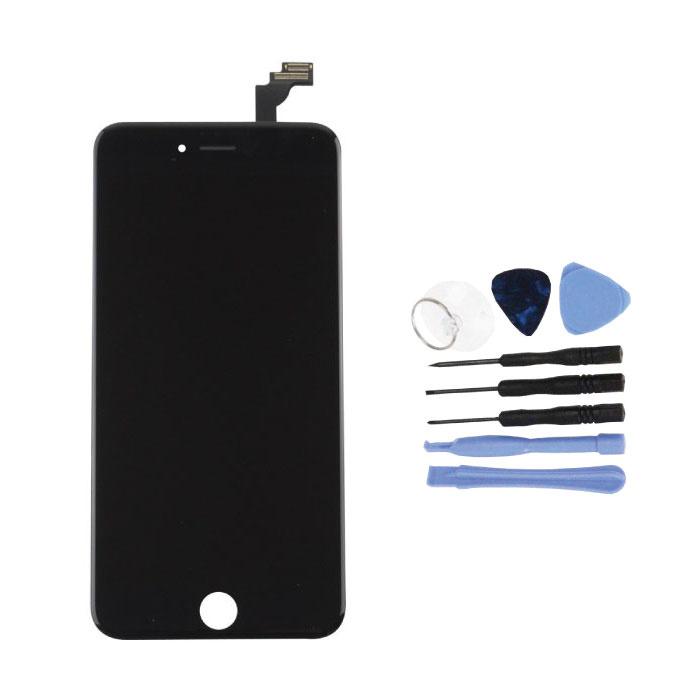 iPhone 6S Plus Bildschirm (Touchscreen + LCD + Teile) AA + Qualität - Schwarz + Werkzeuge