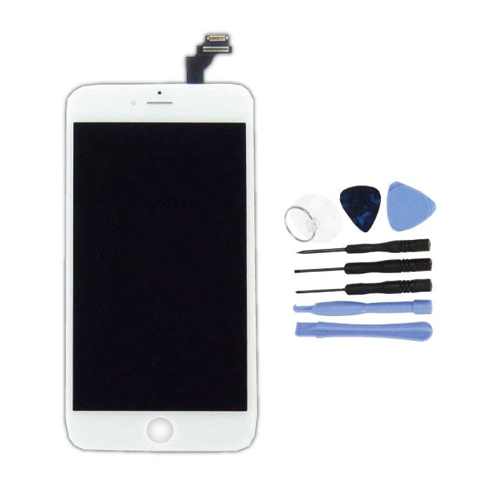 iPhone 6S Plus Bildschirm (Touchscreen + LCD + Teile) AA + Qualität - Weiß + Werkzeuge
