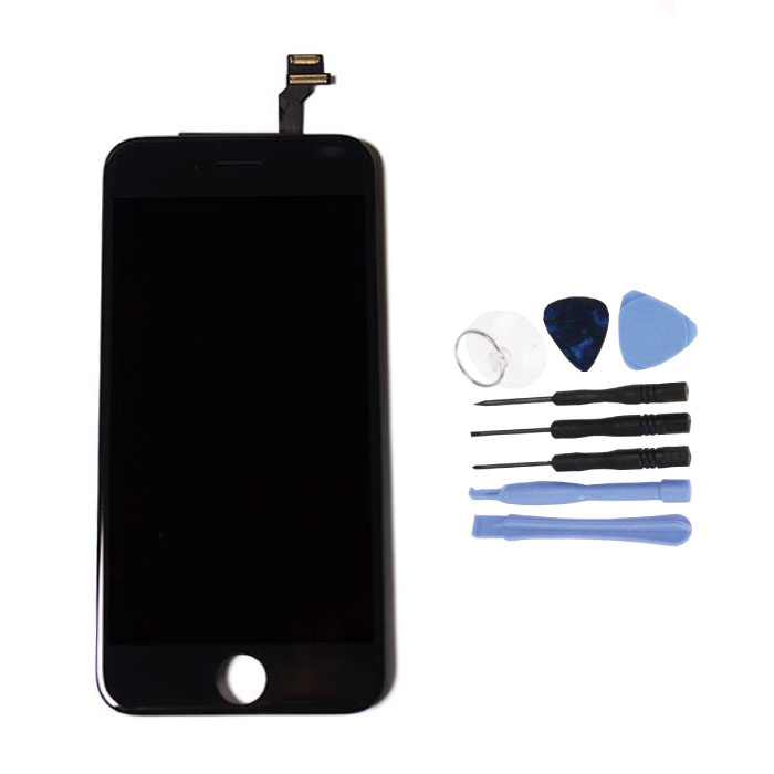 """iPhone 6 4.7 """"Screen (Touchscreen + LCD + Parts) AA + Quality - Black + Tools"""