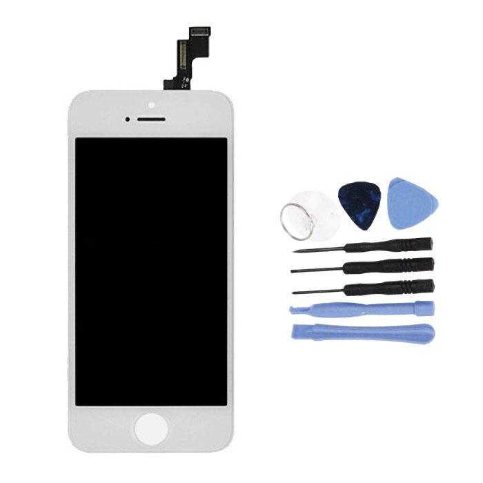 Écran iPhone 5S (écran tactile + LCD + Pièces) AA + Qualité - Blanc + Outils