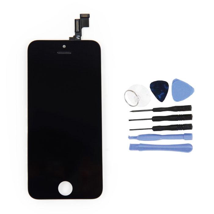 Écran iPhone 5S (écran tactile + LCD + Pièces) AA + Qualité - Noir + Outils