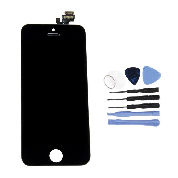 iPhone 5 Bildschirm (Touchscreen + LCD + Teile) AA + Qualität - Schwarz + Werkzeuge