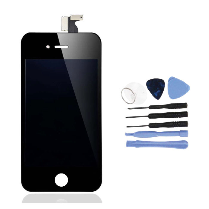 iPhone 4 Screen (Touchscreen + LCD + Parts) AA + Quality - Black + Tools