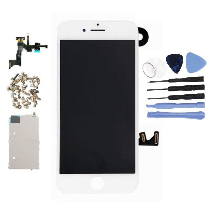 Vormontierter iPhone 7-Bildschirm (Touchscreen + LCD + Teile) A + Qualität - Weiß + Werkzeuge