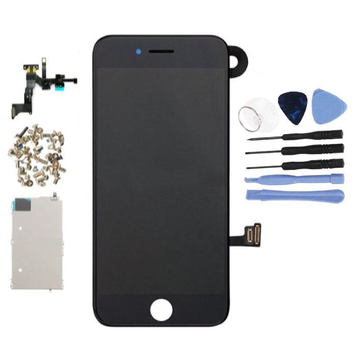 Vormontierter iPhone 7-Bildschirm (Touchscreen + LCD + Teile) A + Qualität - Schwarz + Werkzeuge
