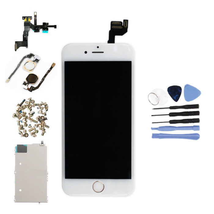 """Écran pré-assemblé pour iPhone 6S 4,7 """"(écran tactile + LCD + pièces) A + Qualité - Blanc + Outils"""