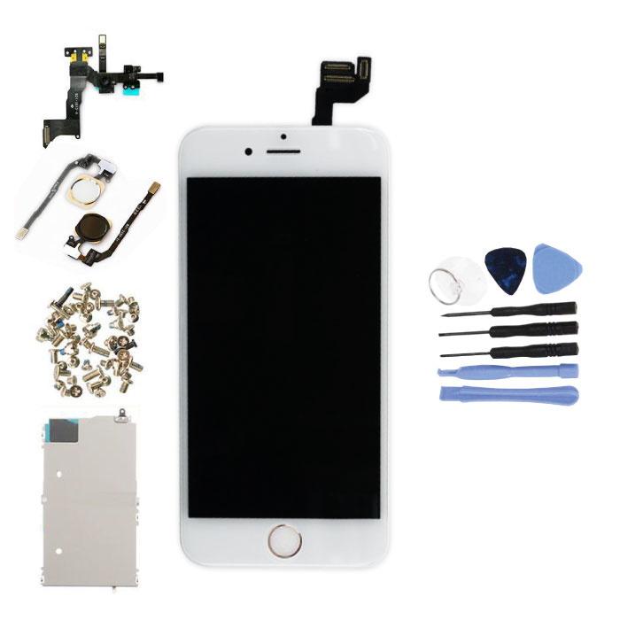 """iPhone 6S 4.7"""" Voorgemonteerd Scherm (Touchscreen + LCD + Onderdelen) A+ Kwaliteit - Wit + Gereedschap"""