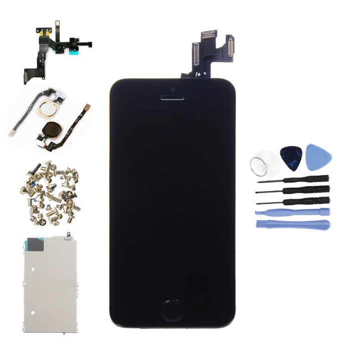 Écran pré-assemblé pour iPhone 5S (écran tactile + LCD + pièces) A + Qualité - Noir + Outils