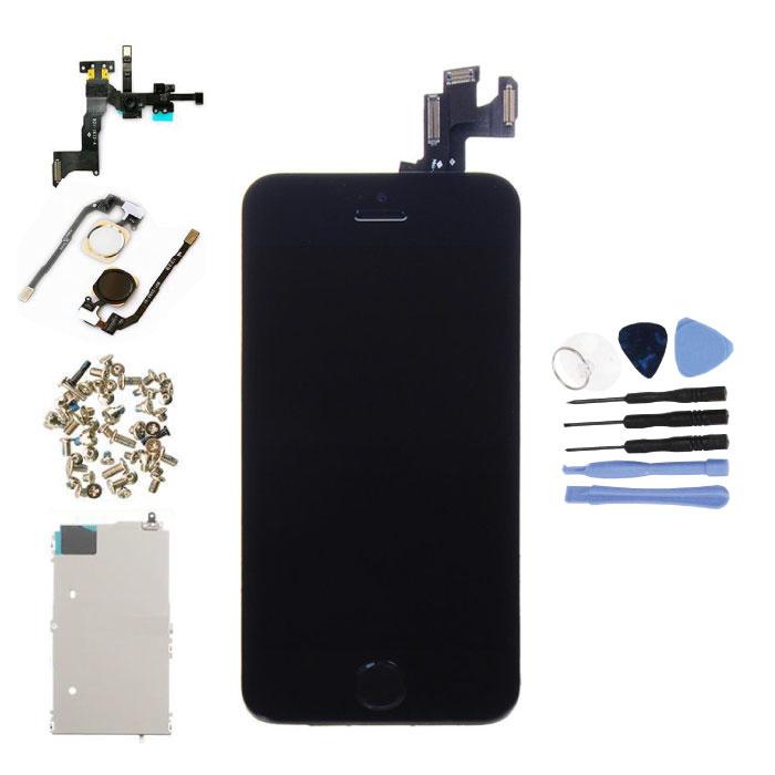 iPhone 5S Voorgemonteerd Scherm (Touchscreen + LCD + Onderdelen) A+ Kwaliteit - Zwart + Gereedschap