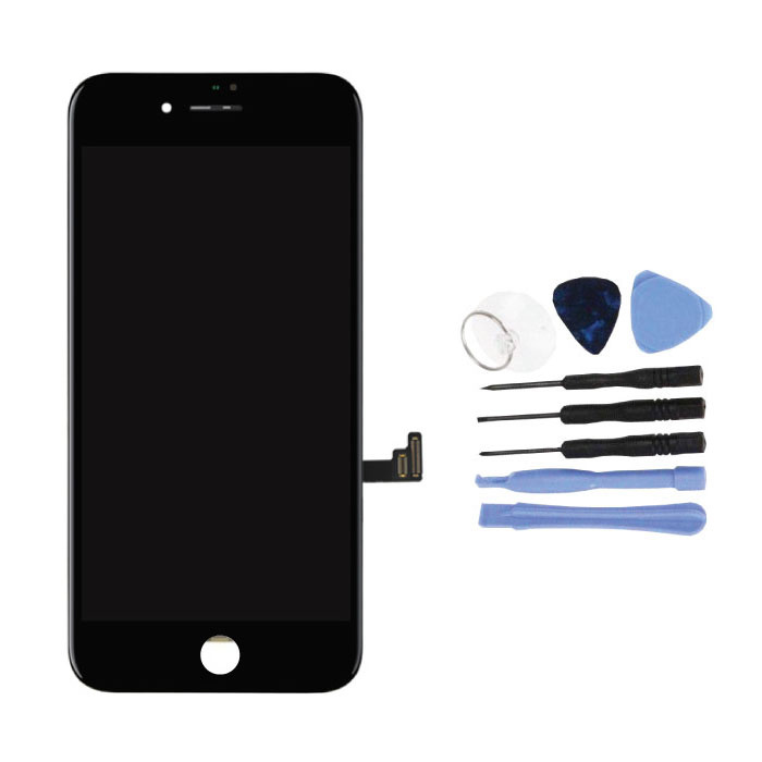 iPhone 8 Plus Scherm (Touchscreen + LCD + Onderdelen) A+ Kwaliteit - Zwart + Gereedschap