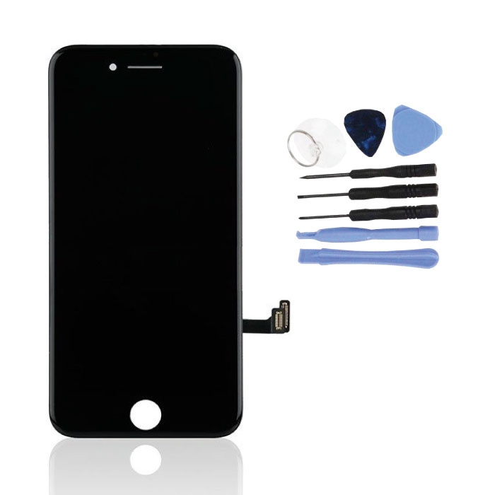 iPhone 8 Screen (Touchscreen + LCD + Parts) A + Quality - Black + Tools