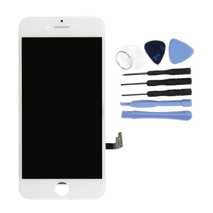 iPhone 7 Bildschirm (Touchscreen + LCD + Teile) A + Qualität - Weiß + Werkzeuge