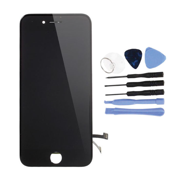 iPhone 7 Screen (Touchscreen + LCD + Parts) A + Quality - Black + Tools