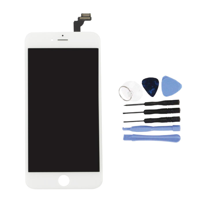 iPhone 6 Plus Screen (Touchscreen + LCD + Parts) A + Quality - White + Tools