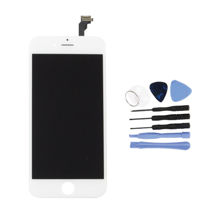 "iPhone 6 4.7 ""Screen (Touchscreen + LCD + Parts) A + Quality - White + Tools"