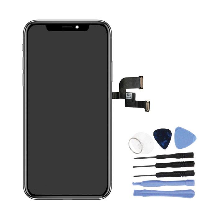 iPhone X Bildschirm (Touchscreen + OLED + Teile) A + Qualität - Schwarz + Werkzeuge