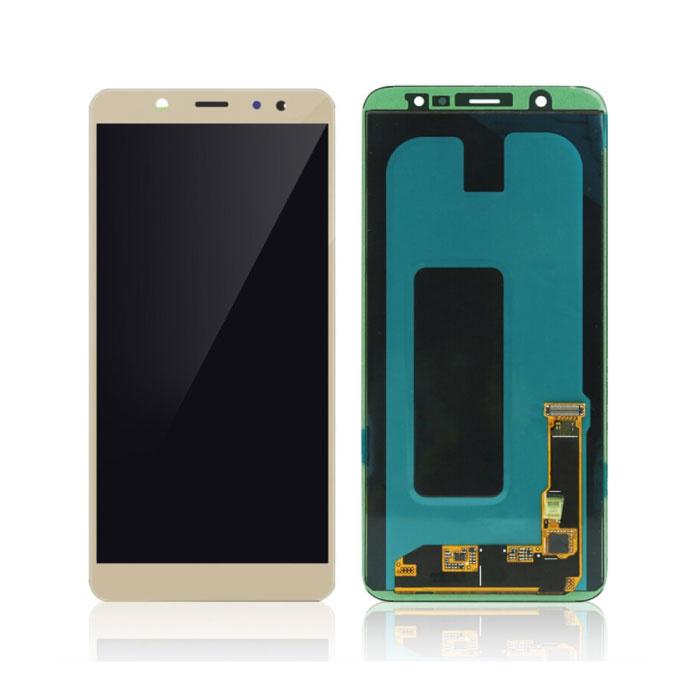 Samsung Galaxy A6 2018 A600 Bildschirm (Touchscreen + AMOLED + Teile) AAA + Qualität - Gold