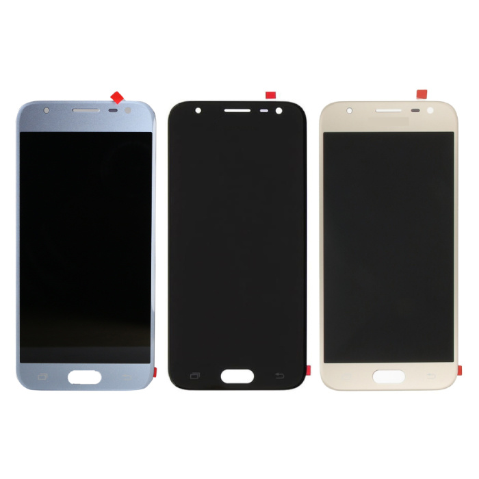 Samsung Galaxy J3 J330 2017 Scherm (Touchscreen + AMOLED + Onderdelen) AAA+ Kwaliteit - Zwart/Lichtblauw/Goud