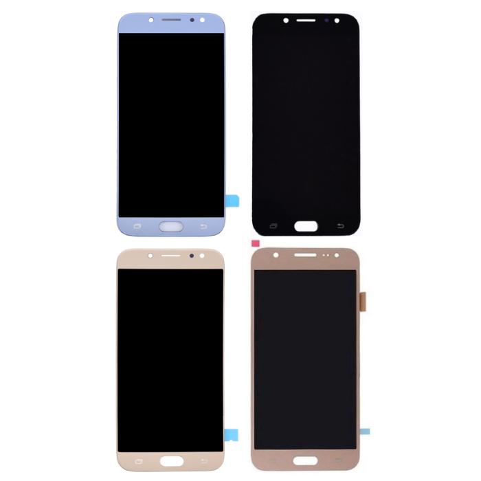 Écran Samsung Galaxy J7 J730 2017 (Écran tactile + AMOLED + Pièces) A + Qualité - Noir / Bleu clair / Or / Or rose