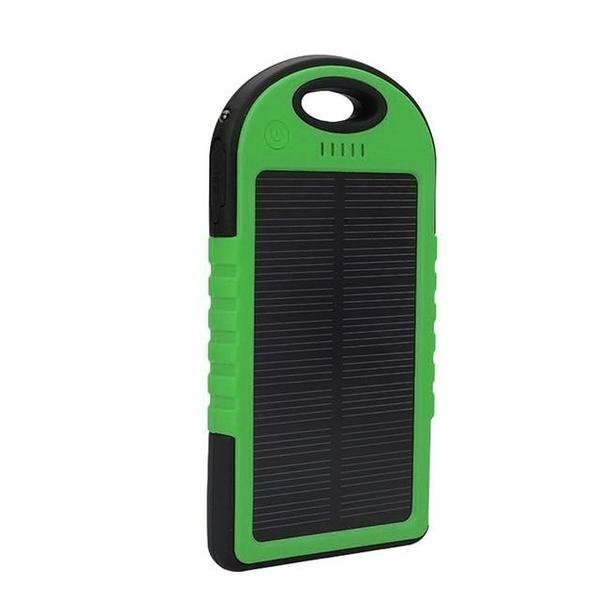 External 5000mAh Solar Charger Power Bank Emergency Solar Battery Charger Green