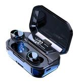 QCR G02 TWS Wireless Smart Touch Control Earphones Bluetooth 5.0 Air Wireless Pods 3300mAh Powerbank Earphones Earbuds Black