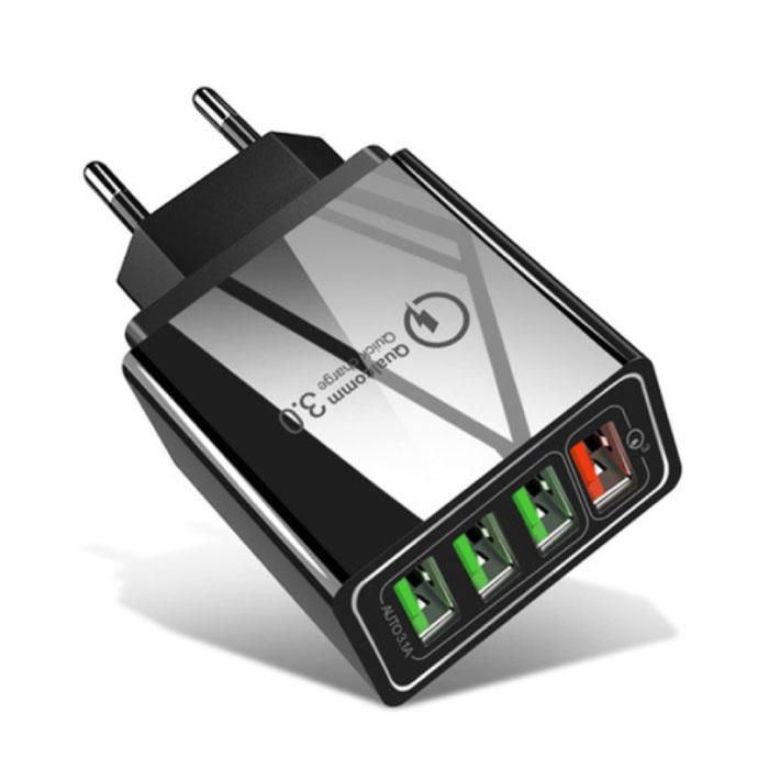 Qualcomm Quick Charge 3.0 Quad 4x Port USB Ładowarka ścienna Ładowarka ścienna AC Ładowarka domowa Wtyczka Ładowarka