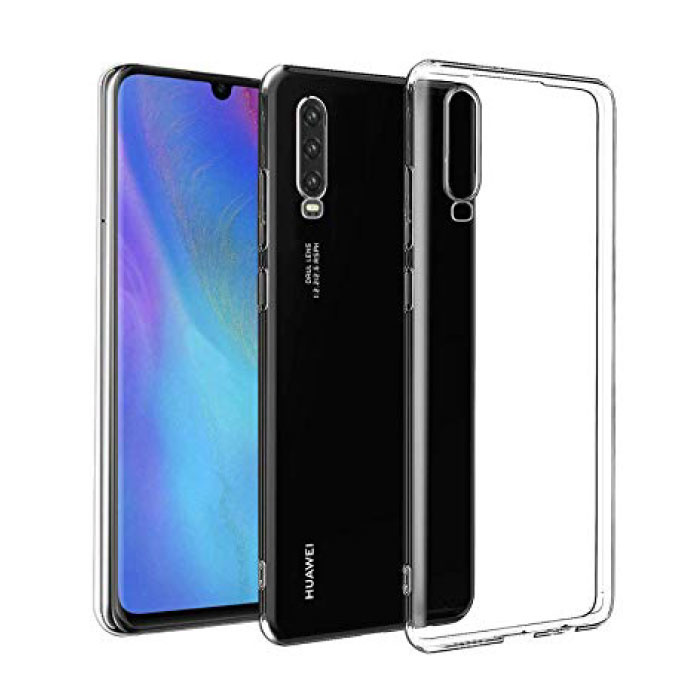 Huawei P30 Transparant Clear Case Cover Silicone TPU Hoesje
