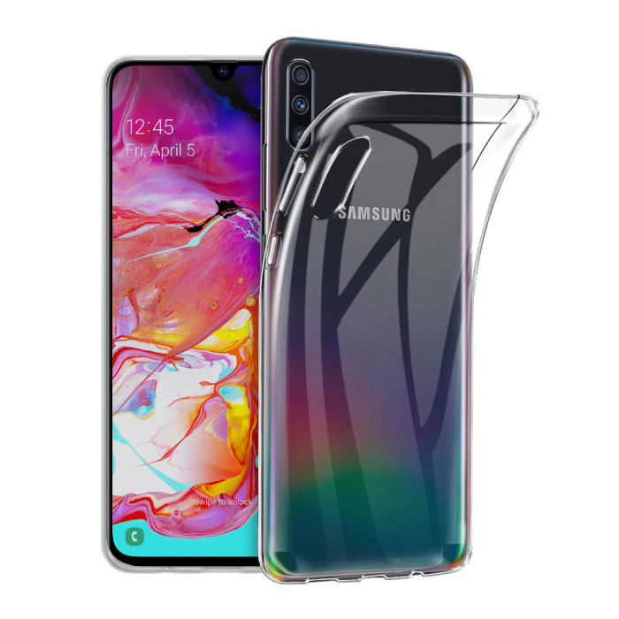 Transparant Clear Case Cover Silicone TPU Hoesje Samsung Galaxy A70