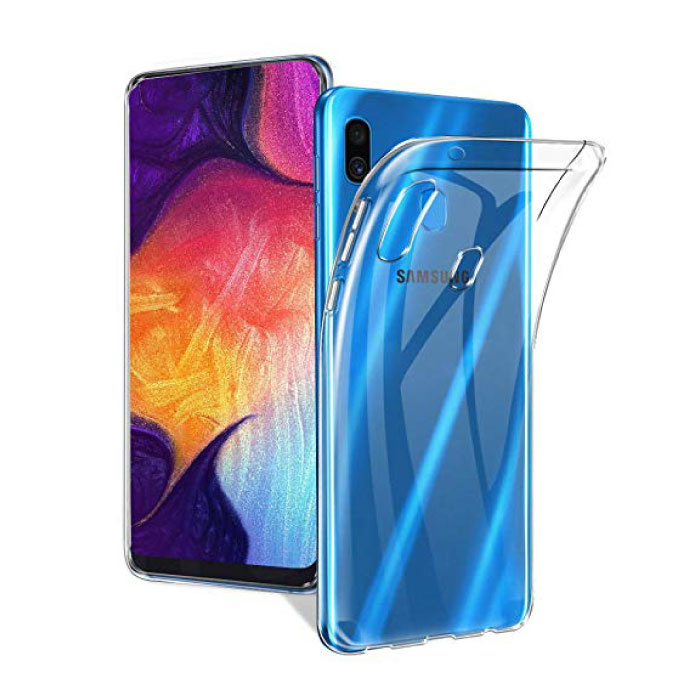Samsung Galaxy A40 Transparant Clear Case Cover Silicone TPU Hoesje