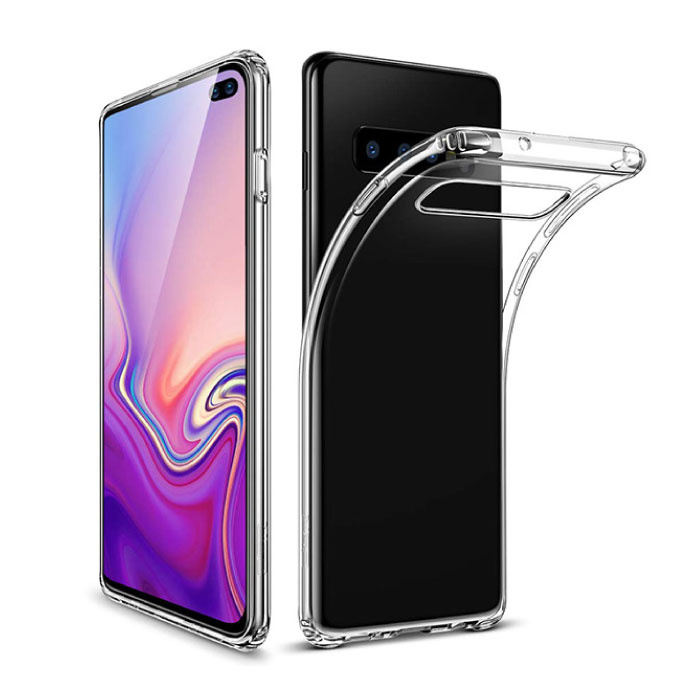 Coque en TPU en silicone transparente pour Samsung Galaxy S10 Plus
