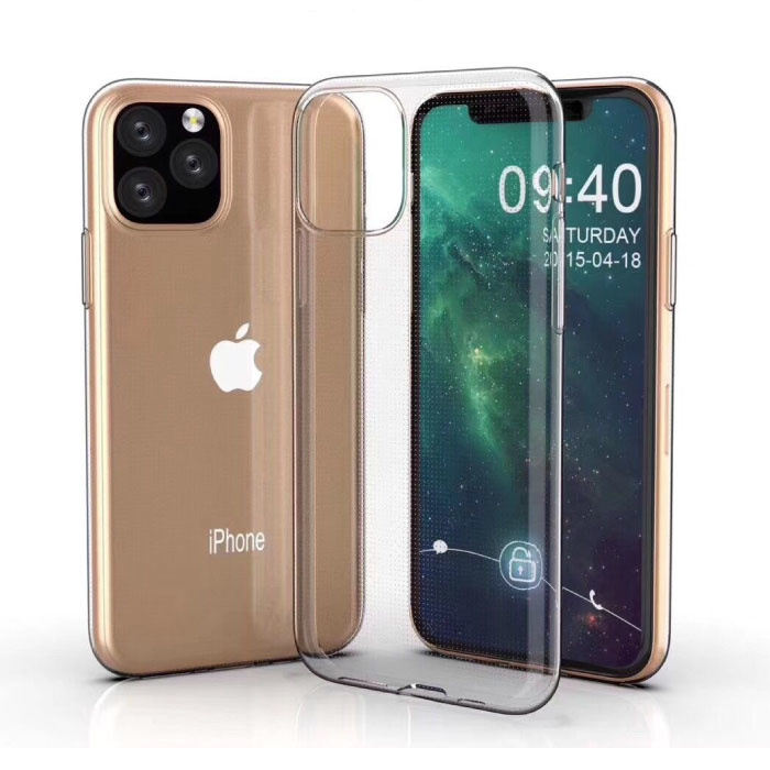 Coque en TPU transparente en silicone transparente pour iPhone 11 Pro Max