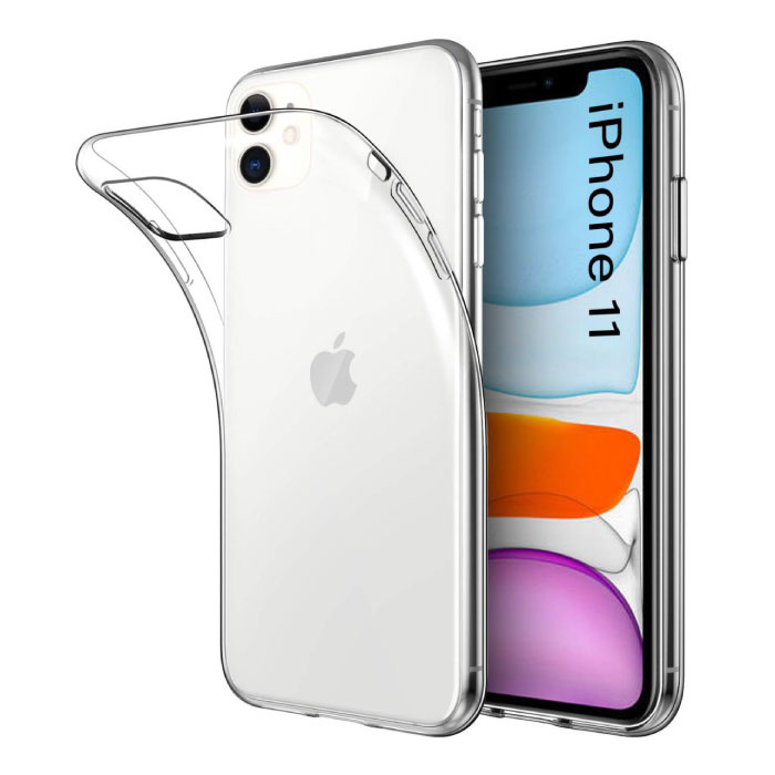 iPhone 11 Transparant Clear Case Cover Silicone TPU Hoesje